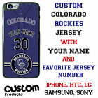 Custom Colorado Rockies Jersey Phone Case with Your Name & # for iPhone