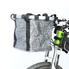 Bike Cycling Front Basket Bicycle Handlebar Bag Foldable Carrier Quick Release