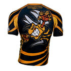 KIDS SIZE RASH GUARD EXTREME HOBBY WASP FOR TRAINING MMA, FIGHT,GYM !