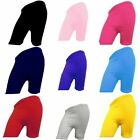 Womens Ladies Girls Cotton Lycra Cycling Shorts School Gym Yoga Dance Shorts
