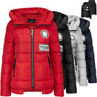 STEPP  DAMEN WINTER JACKE TRISENS  DAUNEN OPTIK MANTEL  SKI JACKE KAPUZE WARM
