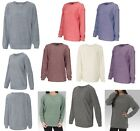 LADIES OVERSIZED FIT, MOCK CREWNECK, TERRY LOOP, PULLOVER, SWEATER TOP, S-2XL