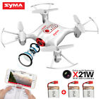 Syma X21W Wifi FPV Mini Drone With Camera Live Video LED Nano Pocket APP Control