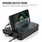 Bluetooth speakers with 4-port usb charger multi-port charging station