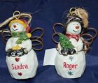 Ganz Country Angels Personalized Ornament Snow Man Ornament Names K - M
