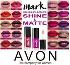 Avon mark. Liquid Lip Lacquer Lipstick~ Matte or Shine ~ Assorted Shades ~ Boxed