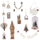 Rustic Christmas Decorations,Glass Dome,Wooden Decorations,Hanging, Bauble, etc.