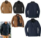 MEN'S WASHED DUCK CLOTH, LONGER WORK/CHORE JACKET, FLANNEL LINED, POCKETS XS-4XL