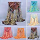New Noble Fashion Women's Long Soft Wrap Lady Shawl Peacock Silk Chiffon Scarf