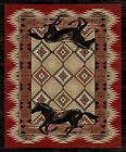 Running Horse Western  Rug Various Sizes and Shapes with FREE Shipping