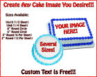 CUSTOM EDIBLE CAKE BIRTHDAY IMAGE ~ Frosting Sheet Topper ~ USE YOUR PHOTO!!!