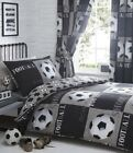 Black/Grey Football Shoot Kids Duvet/Quilt Cover With Pillow Case