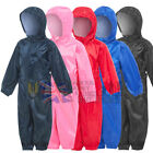 KIDS Waterproof All In One Coverall Rainsuit Play Wet Suit Boys Girls Boilersuit