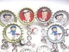 BETTY BOOP Nurse Watch Gold Silver Enamel Charm Vet Watch Glitter Clip on brooch £4.5 GBP on eBay