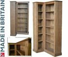 Solid Pine Corner Unit, Large 6ft Tall Adjustable Display Shelving, Bookshelves