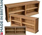 "Low Solid Pine Bookcase, 2ft 4"" x 6ft Wide Display Shelving,Bookshelves,Bookrack"