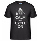 Keep Calm and Cycle On Men's Unisex T-Shirt Funny Cycling Cyclist Gift Tee Shirt