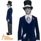 Adult Gothic Manor Groom Costume Mens Halloween Fancy Dress Outfit New
