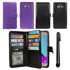 For Samsung Galaxy J2 Prime G532 Flip Holder Wallet Cover Case Wrist Strap + Pen