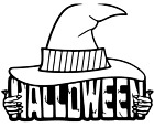 6 x HALLOWEEN STICKERS PARTY DECORATION WALL WINDOW