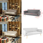 Luxury Modern 3 Seater Padded Fabric Sofabed With Cushions Sofa Bed Settee