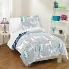 Purrfect Cats TWIN or FULL/QUEEN Grey Cotton Girls Bedding Set Kids Comforter