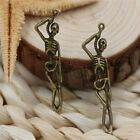10/40pcs Tibetan Silver Hanging skeleton Jewelry Charms Pendant 41x11mm A1135
