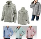 LADIES 1/4 ZIP, TWO TONED, SHERPA PULLOVER, MID-WEIGHT, YOKE BACK, SOFT! XS-2XL