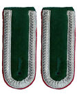 German Unteroffizier Bottle Green Shoulder Boards - WW2 Epaulettes Colour Option