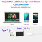 Micro USB Female to Type C 3.1 Male Magnetic Converter Fast Charging Adapter Lot