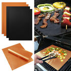 2/4PC Pack Kitchen Copper Chef Grill and Bake Mats Outdoor BBQ Pad Tool Reusable