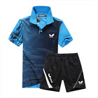 Butterfly Table Tennis Shirt & Shorts - Top Design Ping Pang Clothing - UK Stock