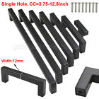 Black Kitchen Cabinet Handles Drawer Square Corner Pulls Cupboard Door Knobs