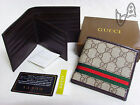 New Authentic Men's Gucci Leather Bifold Wallet----