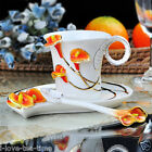 Tasteful Zantedeschia Aethi Porcelain Gift Tea Cup Set 1Cup 1Saucer 1Spoon