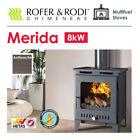 DEFRA Approved Anthracite Multi-Fuel Stove - Rofer Rodi Merida 8kW Optional Fan