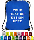 10x Personalised Drawstring Bag Sack School Gym Shoes PE Swim Custom Print
