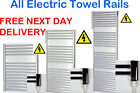 Chrome Curved All Electric Towel Rails