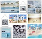 Nautical & Blue Seaside Beach Wall Art Pictures Canvas Home Decor Accessories