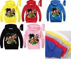 Внешний вид - Kids Boy Girl Dragon Ball Z Goku Long Sleeve Pullover Hooded Sweatshirt Hoodies
