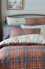 NEXT Bedding - Orange Check Bed Set, Double, King, Super King sizes