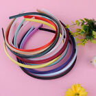 Wholesale Lots 10Pcs 10mm Colored Covered Satin Headband Plastic Hair Accessory