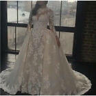 New Arrival Detachable Wedding Dresses Lace Beaded Bridal Gown Wedding Dress