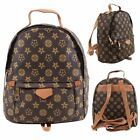 New Womens Faux Leather Multi Flower Print Designers Fashion Backpack Rucksack