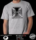 MENS  GREY MARLE  T SHIRT TRIUMPH CHOPPER LOGO FREE POST BIG SIZES XL AND XXL $29.5 AUD on eBay