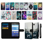 For Kyocera Hydro Wave C6740 Bible Verses Slim Canvas Wallet Case Cover + Pen