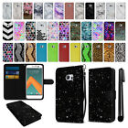 For HTC 10 One M10 Mixed Design Ultra Slim Canvas Wallet Case Cover + Pen