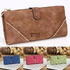 Women Retro Long Trifold Wallet Zipper Clutch Purse Multi-card Position TXSU
