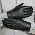 New Arrival Men's Winter Driving Gloves Genuine Lambskin Leather Wool Lining