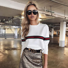 Fashion Ladies Womens Girls Tops Casual Long Sleeve Pullover Jumper Shirt Sweats New without tags